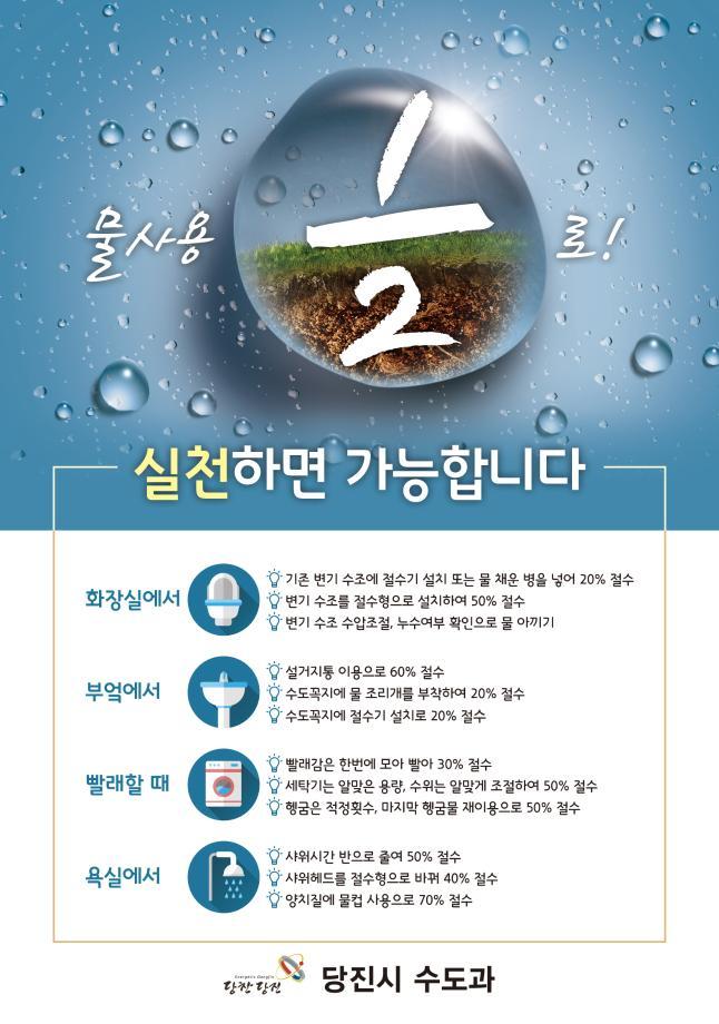 물절약 홍보문